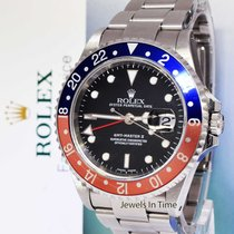 "Rolex GMT-Master II Stainless Steel ""Pepsi"" Watch & Box P 16710"