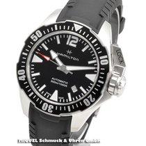 Hamilton Khaki Navy Frogman Staal 42mm Zwart