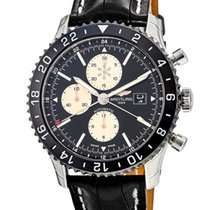 Breitling Chronoliner Steel 46mm Black United States of America, New York, Brooklyn