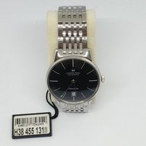 Hamilton Intra-Matic Steel 38mm Black No numerals