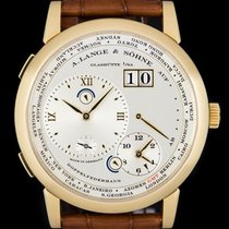 A. Lange & Söhne Yellow gold Manual winding Silver Roman numerals 41.9mm pre-owned Lange 1
