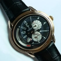 Audemars Piguet Millenary pre-owned 42mm Black Date GMT Leather