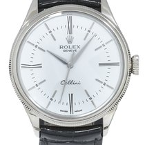 Rolex Cellini Time Witgoud 39mm Wit Romeins