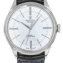 Rolex Cellini Time Vitguld 39mm Vit Romerska