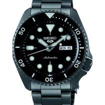 Seiko 5 Sports Steel 43mm Black No numerals