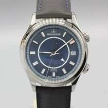 Jaeger-LeCoultre Master Memovox pre-owned 40mm Blue Year Leather
