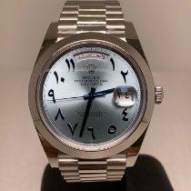 Rolex Day-Date 40 Platino 40mm Azul Arábigos