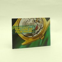 Rolex Factory Service Booklet 2005 English