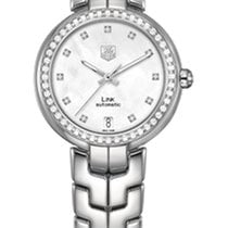 TAG Heuer Link Lady WAT2314.BA0956  - TAGHEUER  STEEL WATCH, DIAMONDS DIAL,BEZEL new