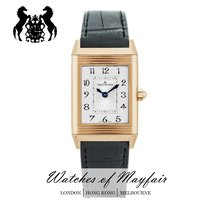 Jaeger-LeCoultre Rose gold Manual winding Silver 33.2mm new Reverso Duetto