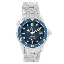 Omega Seamaster Bond Midsize Blue Dial Quartz Steel Watch...