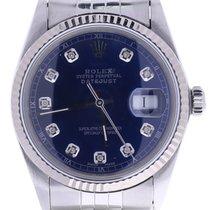 Rolex Datejust 16014 36 Millimeters Blue Dial