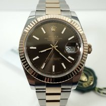 Rolex Datejust II Gold/Steel 41mm Brown No numerals United States of America, Texas, Houston