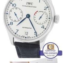 IWC MINT Mens IWC Portuguese 7-Day 46mm 5001-07 IW500107...