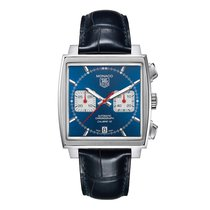 TAG Heuer Monaco Calibre 12 Steel 39mm Blue No numerals United States of America, Florida, SUNRISE