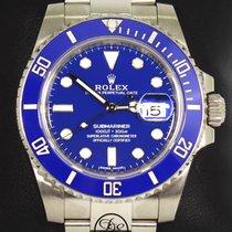 Rolex Witgoud Automatisch Blauw 40mm tweedehands Submariner Date