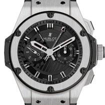 Hublot Chronograph 48mm Automatic pre-owned King Power Black