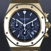 Audemars Piguet Royal Oak Chronograph Geelgoud 39mm Zwart Geen cijfers