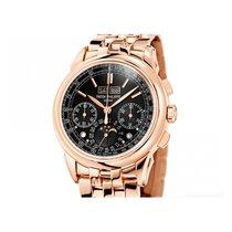 Patek Philippe Perpetual Calendar Chronograph Rose gold 41mm Black No numerals