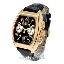 Franck Muller Yellow gold Automatic Black 40mm pre-owned Conquistador