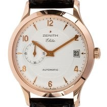 Zenith Rose gold Automatic Silver Arabic numerals 37mm pre-owned Elite