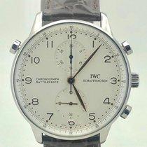 IWC Portugieser Chronograph Stahl 41mm Weiß Arabisch Österreich, wien