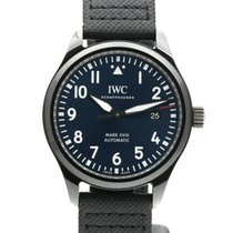IWC Ceramic Automatic Blue Arabic numerals 41mm pre-owned Pilot Mark