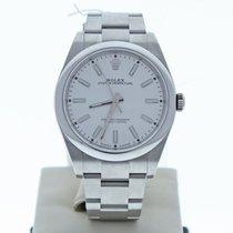 Rolex Oyster Perpetual 39 39mm Weiß