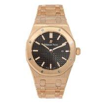 Audemars Piguet Royal Oak 41mm Rose Gold Black Watch 15400OR.O...