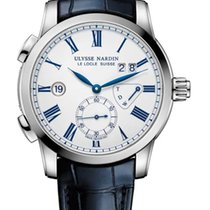 Ulysse Nardin Classic Dual Time Stainless Steel Men's Watch