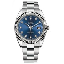 Rolex Datejust 41mm Stainless Steel Blue Diamond Dial Watch...