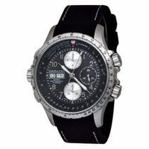 Hamilton KHAKI AVIATION X-WIND AUTO CHRONO Black Steel Rubber...