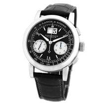 A. Lange & Söhne Datograph pre-owned 39mm Black Chronograph Flyback Date Crocodile skin