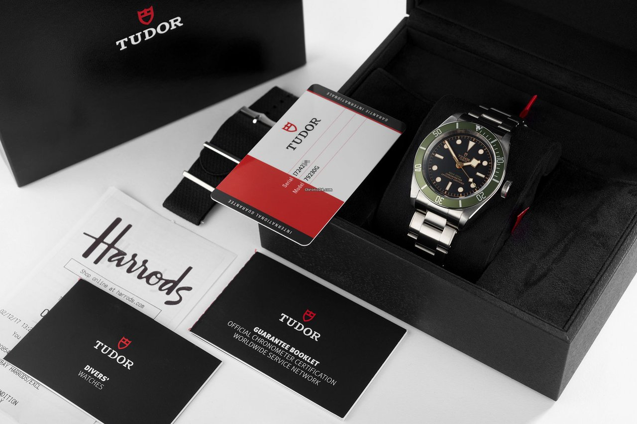 7f69e390f95 Tudor -NEW- Heritage Green Black Bay Harrods Special Edition for 4 435 €  for sale from a Trusted Seller on Chrono24