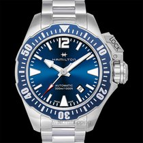 Hamilton Khaki Navy Frogman new Automatic Watch with original box and original papers H77705145