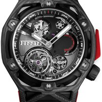 Hublot Techframe Ferrari Tourbillon Chronograph Carbono Negro
