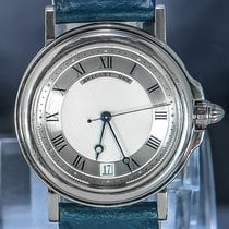 Breguet White gold Automatic Silver Roman numerals 40mm pre-owned Marine