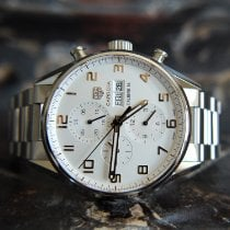 TAG Heuer Carrera Calibre 16 Steel 43mm Silver Arabic numerals United Kingdom, Whitby- North Yorkshire