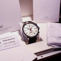 IWC Portuguese Yacht Club Chronograph occasion 45.4mm Argent Chronographe Date Caoutchouc