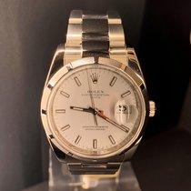 Rolex Oyster Perpetual Date Acier 34MMmm Blanc Sans chiffres France, Paris