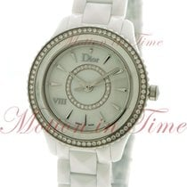 Dior Ceramic Quartz Mother of pearl No numerals 33mm new VIII