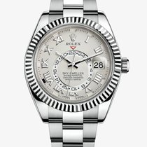 Rolex Sky-Dweller White gold 42mm Silver Roman numerals United States of America, New York, New York