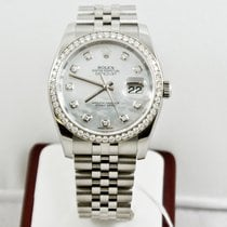 Rolex 36mm Datejust 116244 Mother Of Pearl Diamond Dial