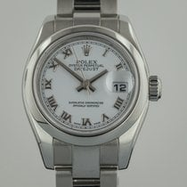 Rolex Datejust, Ladies, Stainless Steel, White Dial, 179160