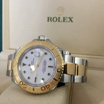 Rolex Oyster Yacht-Master Gold Steel White Dial 40 mm (Full Set)