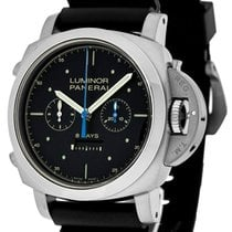 Panerai Luminor 1950 Rattrapante 8 Days Titanio 47mm Black...