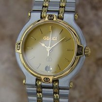 Gucci 9000L Swiss Made 25mm Ladies Quartz c2000 Stainless...