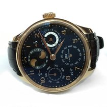IWC Portuguese Perpetual Calendar Rose gold Black Arabic numerals United States of America, New York, New York