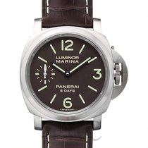 パネライ (Panerai) LUMINOR MARINA 8 DAYS TITANIO Brown Titanium/Le...