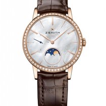 Zenith Elite Lady Moonphase Rose Gold & Diamonds Ladies Watch